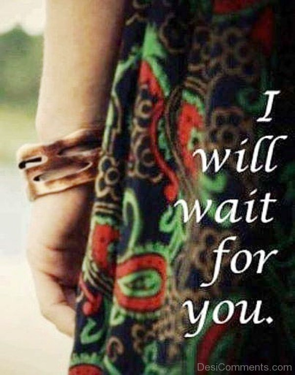 I Will Wait For You Picture