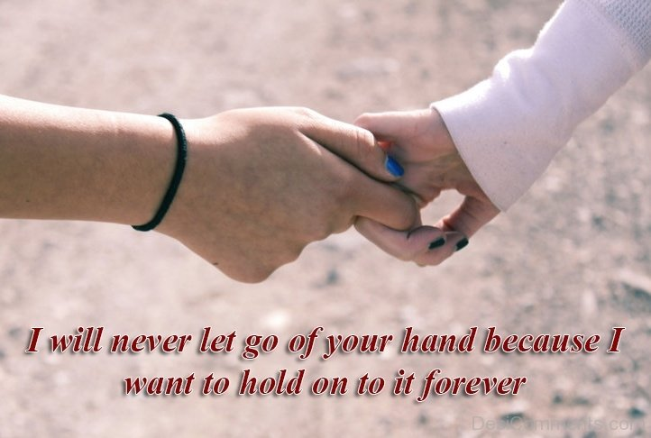 Letting Go Not Holding Hands