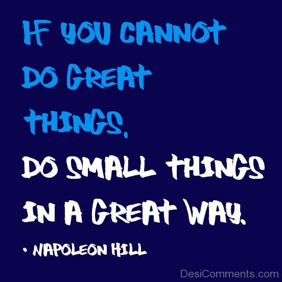 If You Cannot Do Great Things-DC987DC141