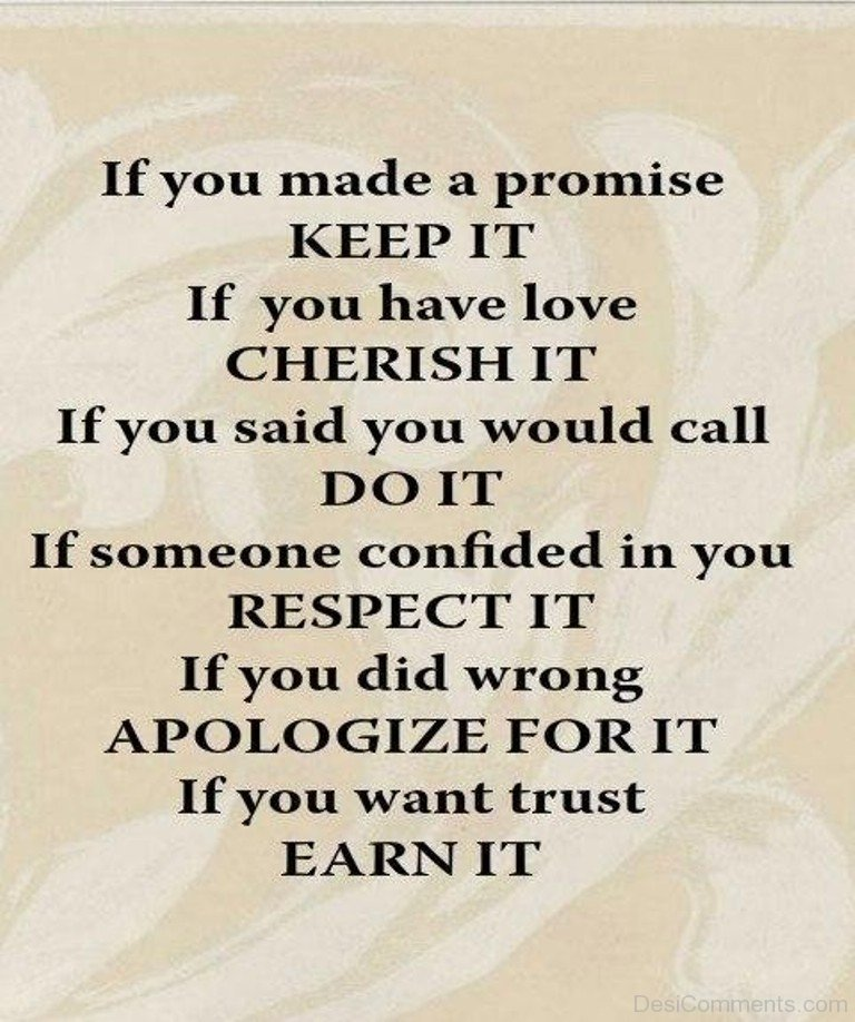 If You Made A Promise Keep It Desicommentscom