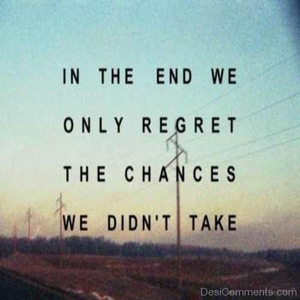 In The End We Only Regret-Dc099