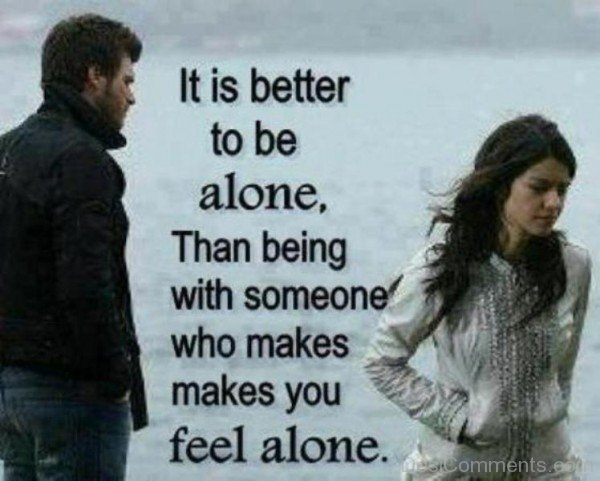 It is better to be alone-DC37