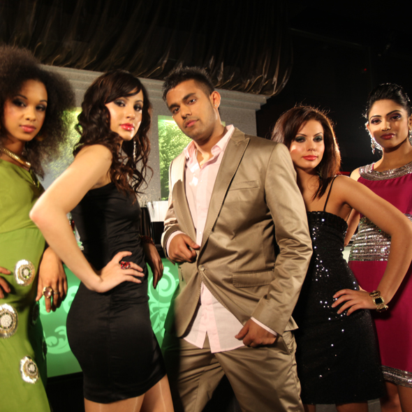 Jaz Dhami With Female Models