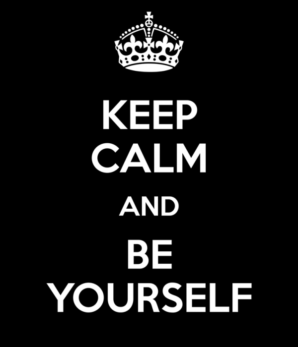 Keep Calm And Be Yourself-Dc29