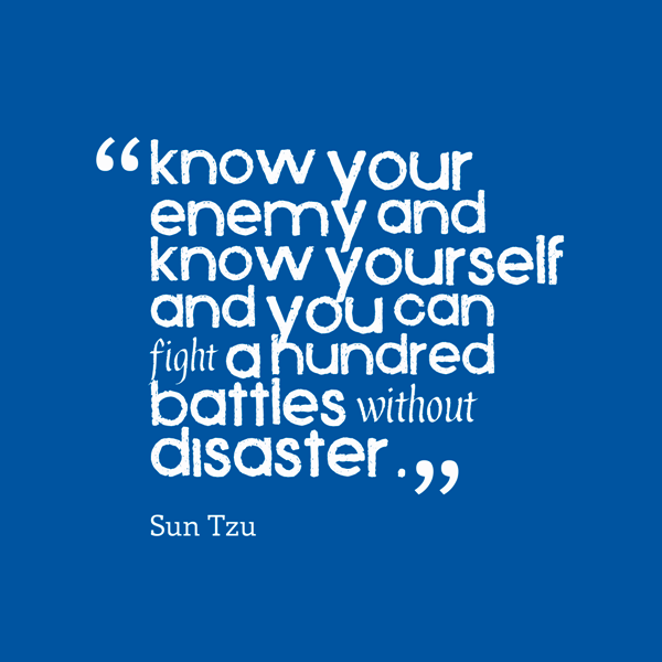 Know Your And  Enemy Yourself -dc1256
