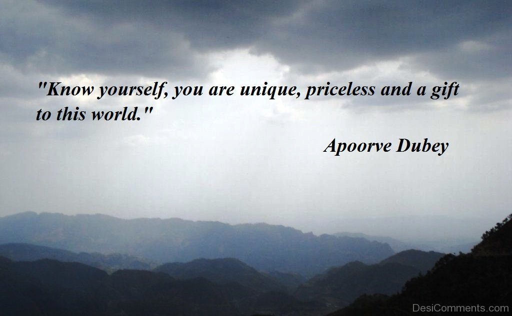Unique Quotes About Yourself Know yourself you are unique-