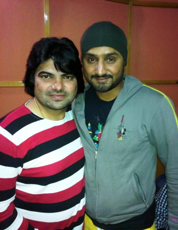 Lakhwinder Lucky With Harbhajan Singh