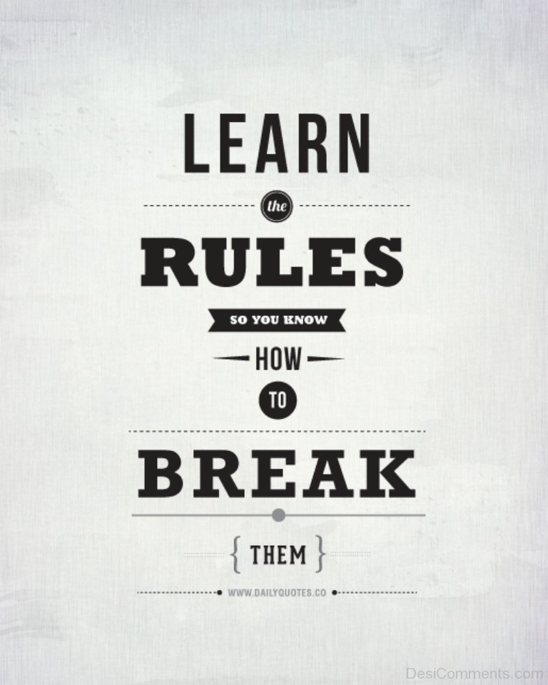 Learn The Rules Desicommentscom