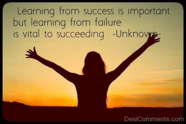 Learning From Success Is Important