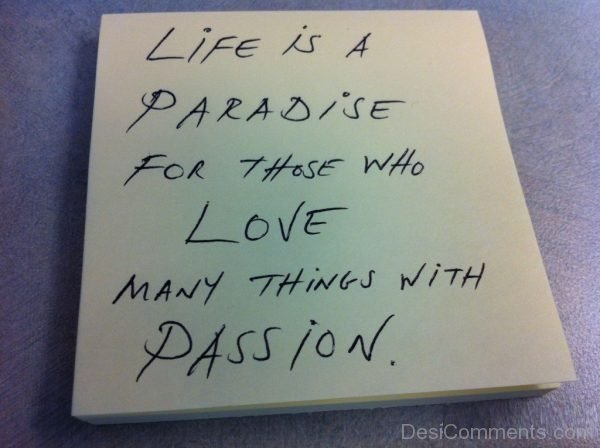 Life is a paradise