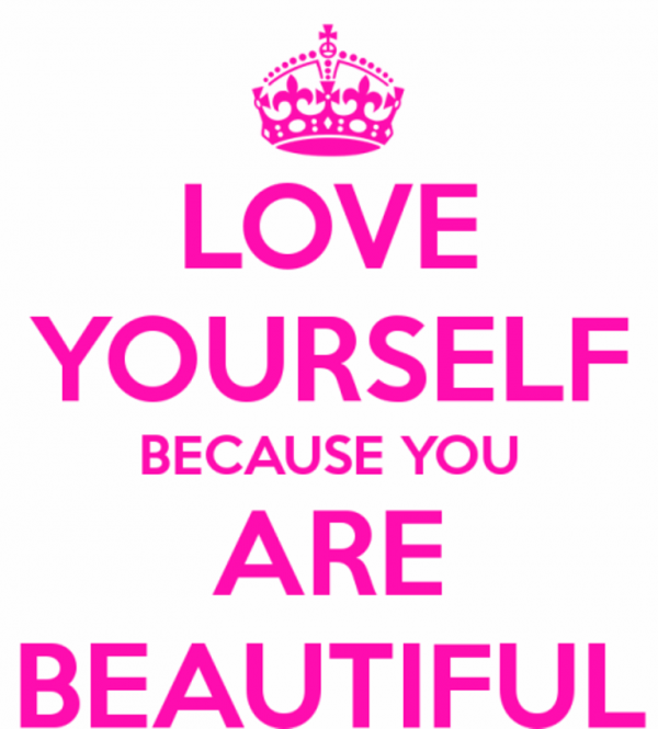 Love Yourself Because You Are Beautiful-DC059