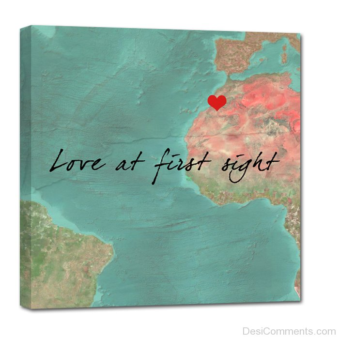 love at first sight map. Black Bedroom Furniture Sets. Home Design Ideas
