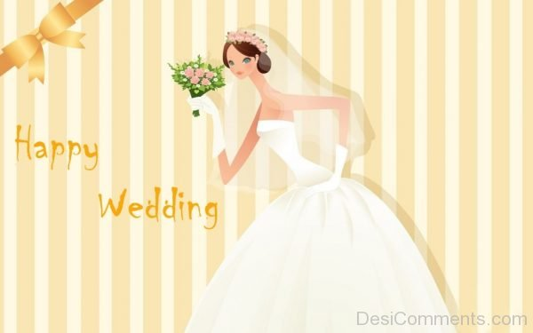 Lovely Bride Wishes Happy Wedding-DC23