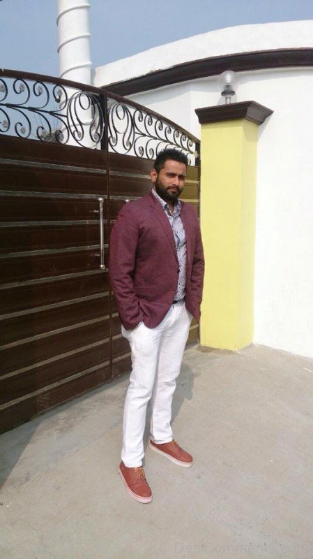 Maninder Batth In White Pant