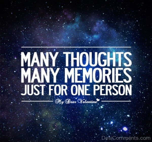 Many thought Many Memories Just For One Person- Dc 4069