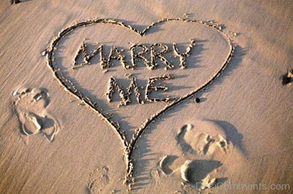 Marry Me Proposal On Sand