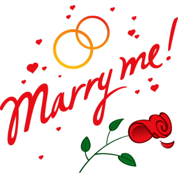 Marry Me Rose Hearts Image
