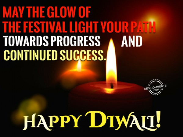 May the glow of diwali light your path