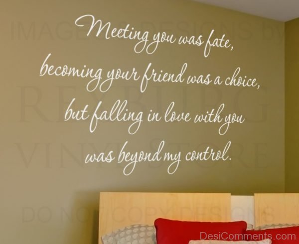 Meeting You Was  Fate Becoming Your Friends Was A Choice-DC34