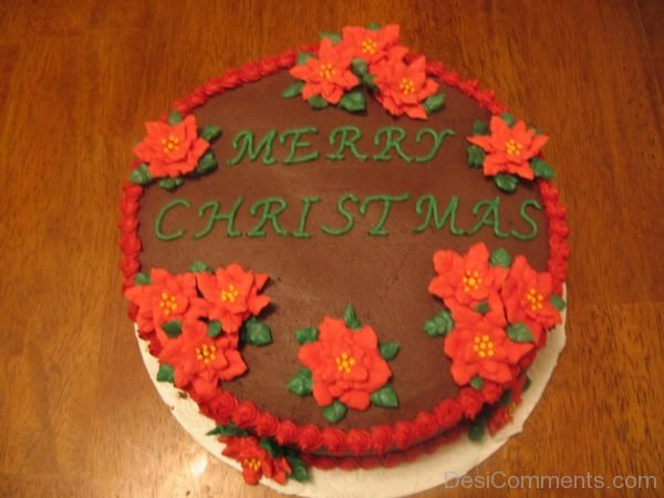 Merry Christmas Chocolate Cake