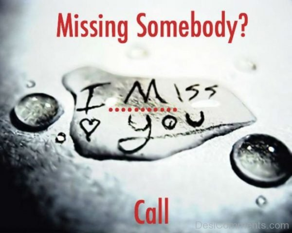 Missing Somebody