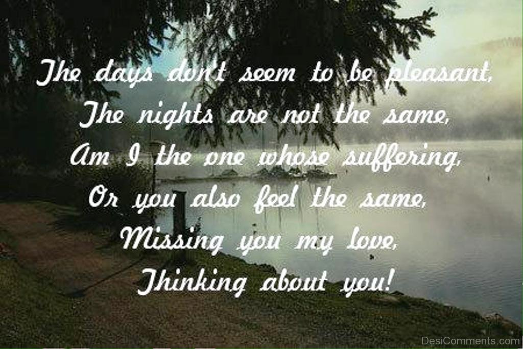 Missing You My Lovethinking About You Desicommentscom