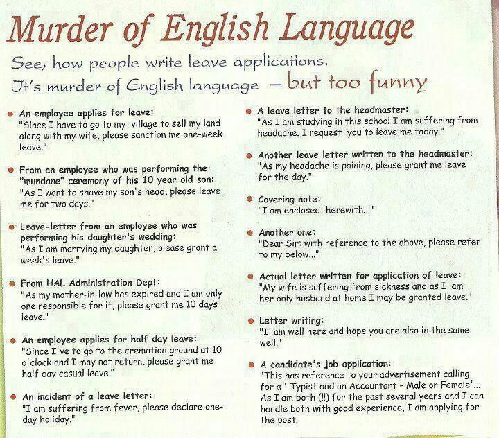 Murder Of English Language