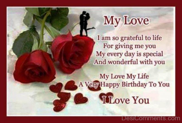 My Love I Am So Grateful To Life-YTE323DC16