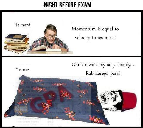 Night Before Exam