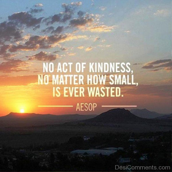No act of kindness no matter how small is ever wasted-dc018083