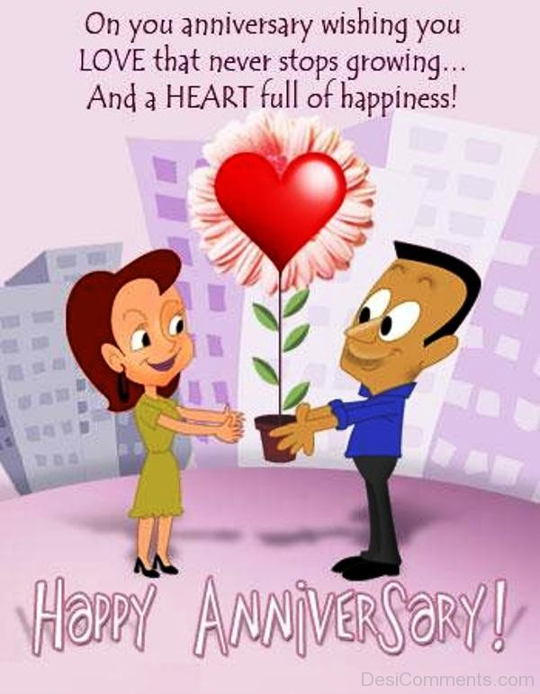 On You Anniversary Wishing You Love-rvt548DC25