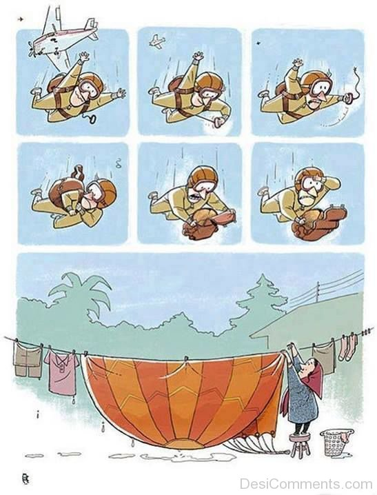 Picture: One Day Wife Decided To Wash My Parachute
