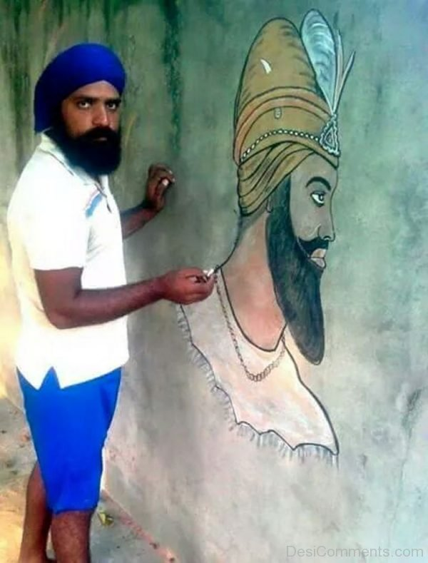 Painting Of Guru Gobind Singh Ji
