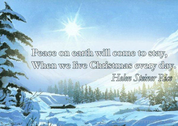 Peace On Earth Will Come To Stay-DC493