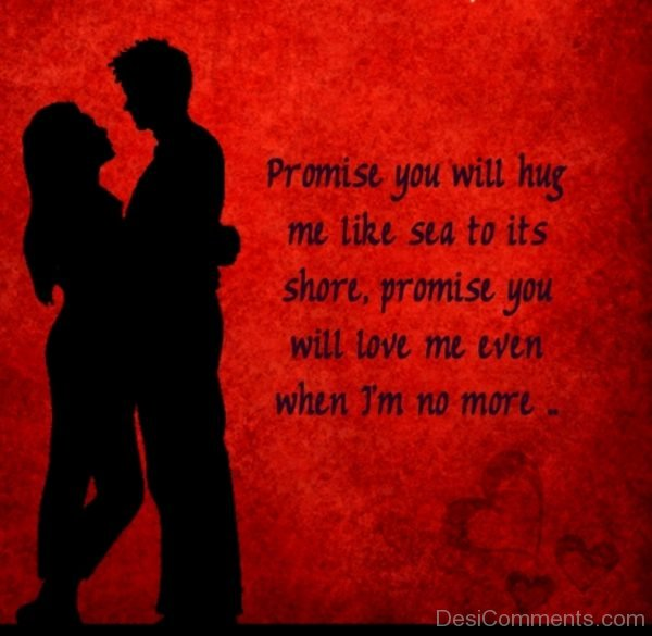 Promise You Wil Hug Me Like Sea To Its Shore