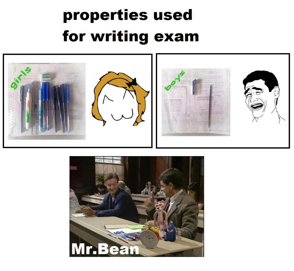 Properties Used For Writing Exam