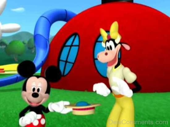 Queen Clarabelle And Mickey Mouse-DESI003