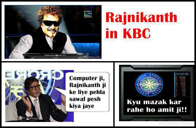 Rajnikanth In KBC