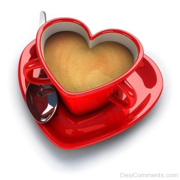 Red Heart Cup Coffee- DC 02149