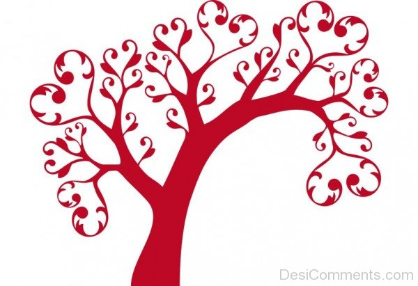 Red Hearts Tree- DC 02152