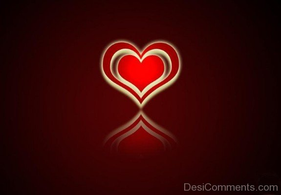 Red Love Heart Image- DC 02153