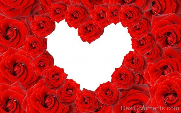 Red Roses Heart Image- DC 02155