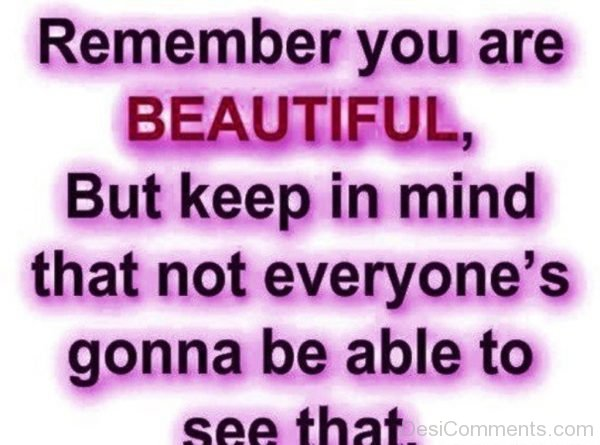 Remember You Are Beautiful-DC064