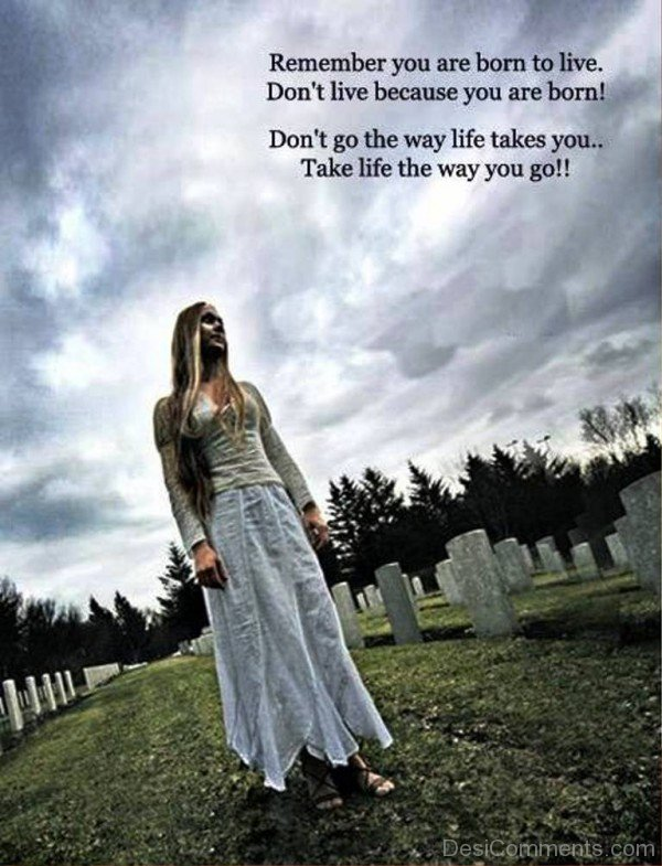 Remember you are born to live-dc018090