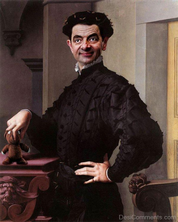 Rodney pike photoshop mr bean into famous painting