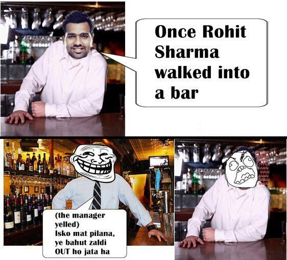 Picture: Rohit Sharma Into A Bar