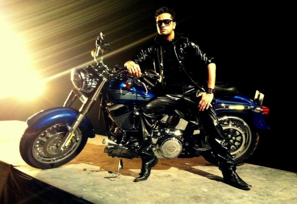 Roshan prince Giving A Pose With Bike