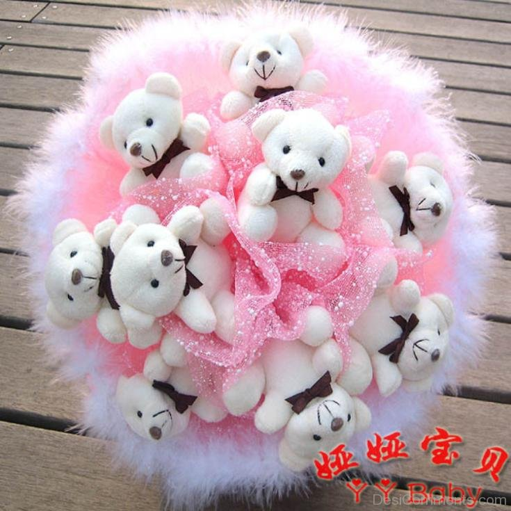 Sweet Pink Teddy Bears - DesiComments.com