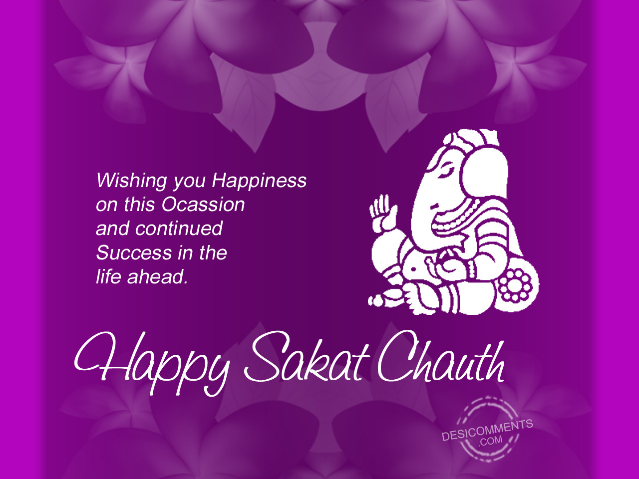 Best Happy Sakat Chauth Festival Image for free download