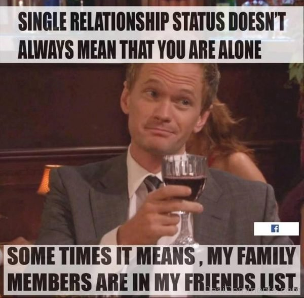 Single Relationships Status Doesn't Mean-DC122